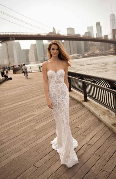 79cc26c7b0d berta spring 2018 bridal spaghetti strap deep plunging v neck full  embellishment sexy romantic a line