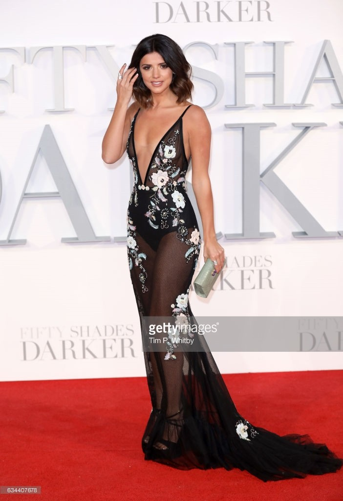 """attends the UK Premiere of """"Fifty Shades Darker"""" at the Odeon Leicester Square on February 9, 2017 in London, United Kingdom."""