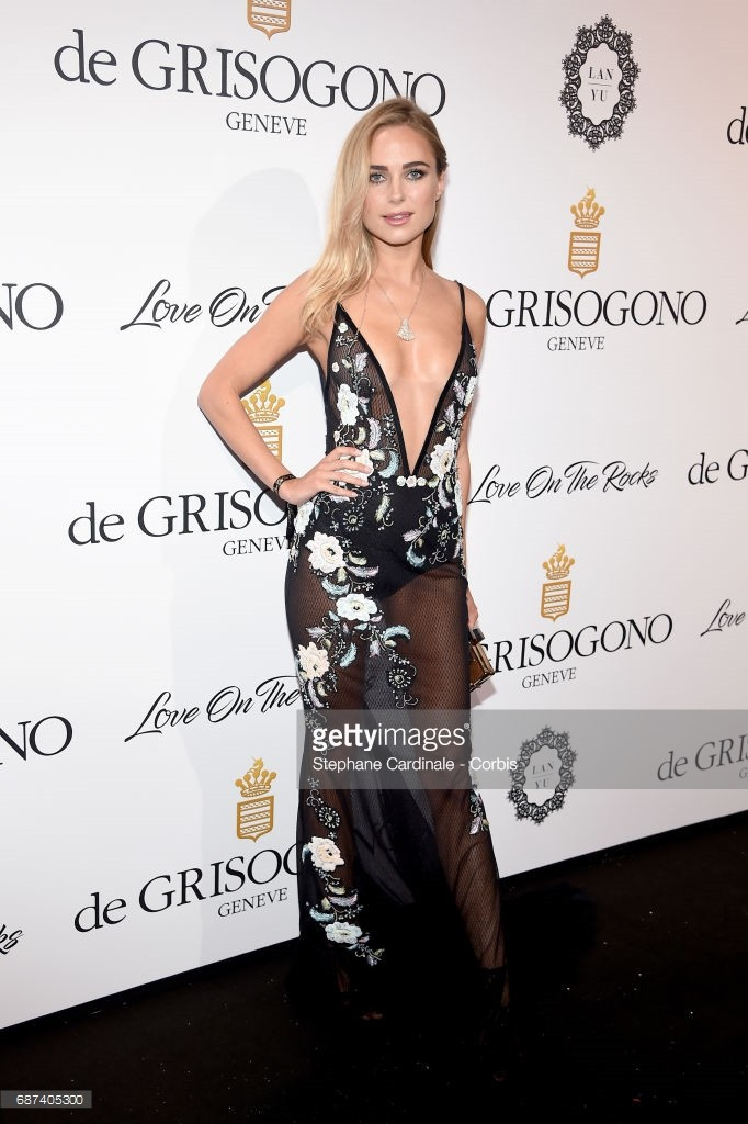 """attends DeGrisogono """"Love On The Rocks"""" during the 70th annual Cannes Film Festival at Hotel du Cap-Eden-Roc on May 23, 2017 in Cap d'Antibes, France."""