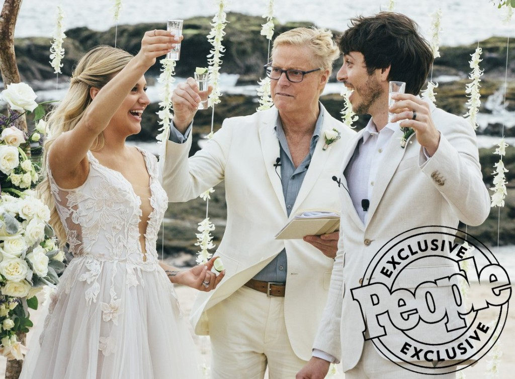 Kelsea Ballerini wedding to Morgan Evans on Saturday December 2, 2017 in Cabo San Lucas, Mexico. Photographer credit (in folio, not gutter for original use..gutter ok afterwards): Jospeh Llanes Per the contract: The right to reuse the Photographs which are actually published in the Publication Issue of the Magazine, without additional contribution or consent, in a (i) subsequent or special issue of the Magazine and (ii) a book published by Time Inc. or its affiliates under the People trademark and logotype.